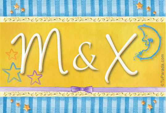 Tarjeta de iniciales M - X