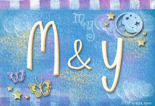 Tarjeta de iniciales M - Y