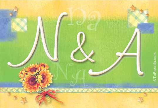 Tarjeta de iniciales N - A