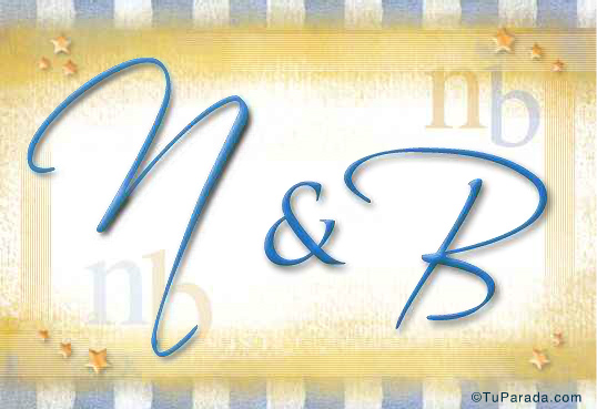 Tarjeta de iniciales N - B