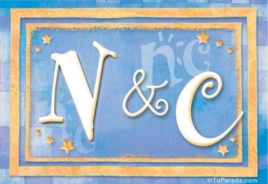 Tarjeta de iniciales N - C