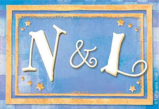 Tarjeta de iniciales N - L