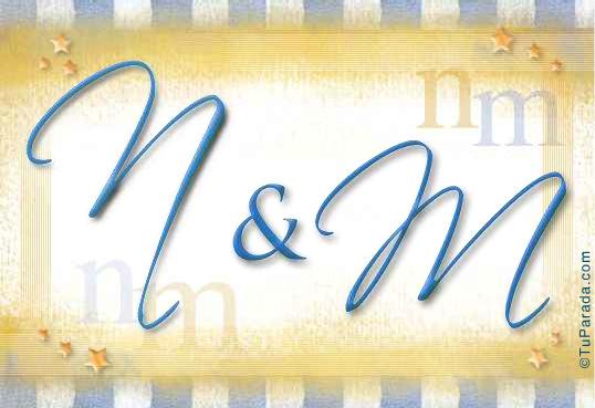Tarjeta de iniciales N - M