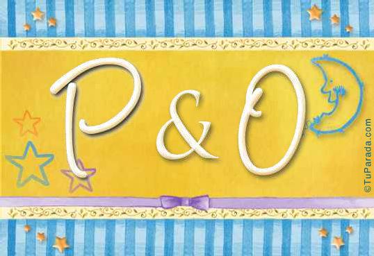 Tarjeta - P & O