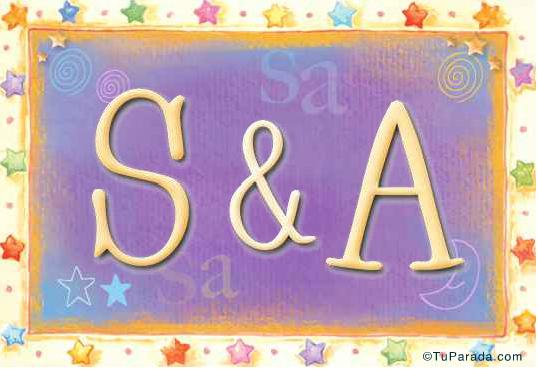 Tarjetas, postales: Inicial S