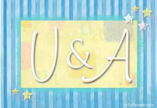 Tarjetas, postales: Inicial U