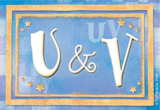 U & V