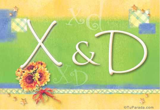 Tarjeta de Inicial X