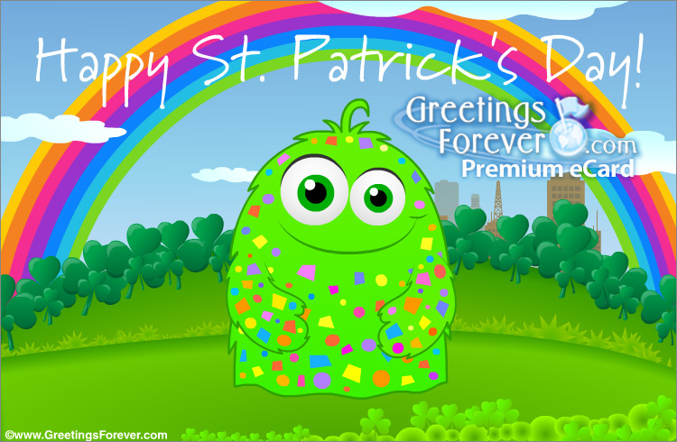 Ecard - St. Patrick's Day ecard with rainbow