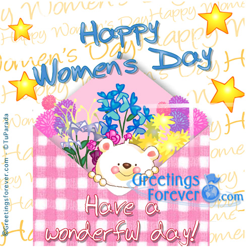 Ecard - Happy Women's Day with little bear