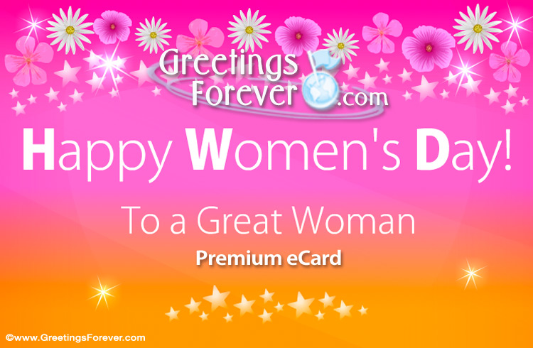 Ecard - Women's day greeting card