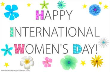 International women's day e-card