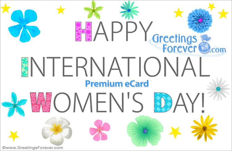 Ecard - International women's day e-card