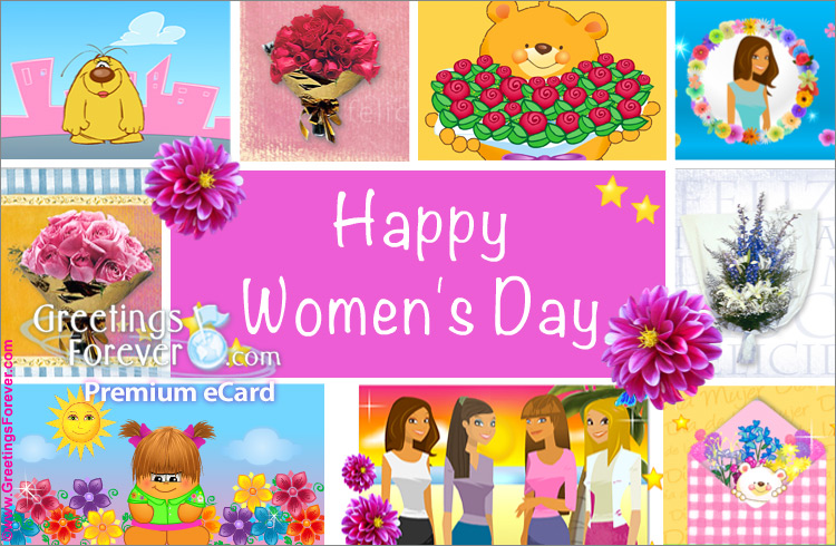 Ecard - Women's day ecard with images
