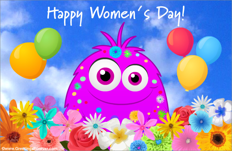 Ecard - Women's day with a little surprise