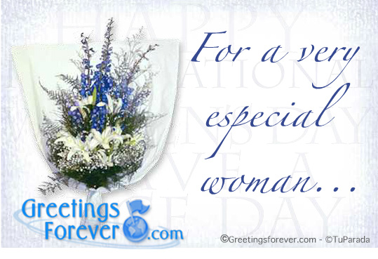 Ecard - For a very special woman...