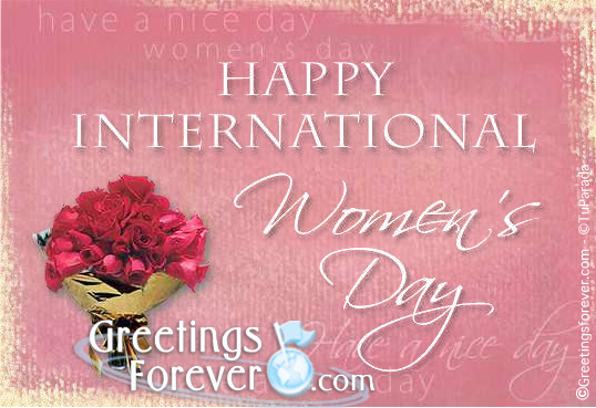 Ecard - Women's day with flowers