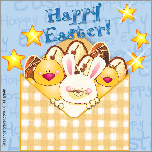 Happy Easter animated envelope