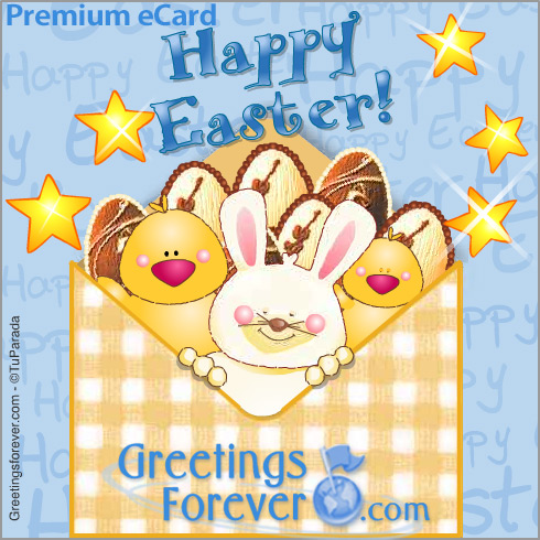 Ecard - Happy Easter animated envelope