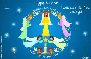 Easter ecard with angels