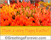 Easter ecard with tulips