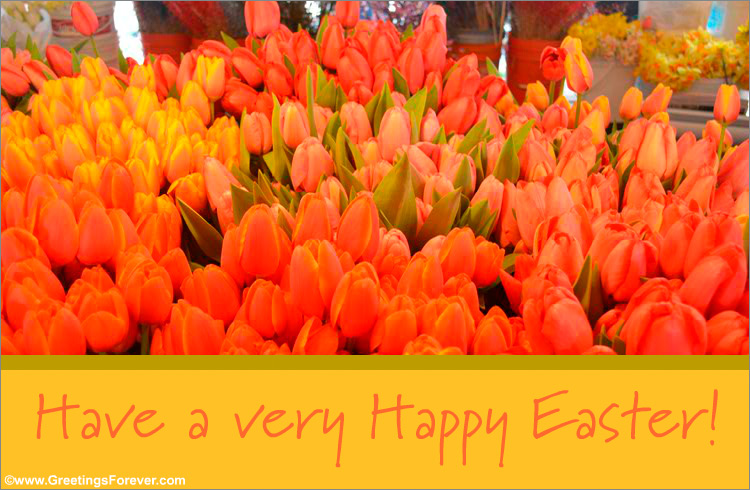 Ecard - Easter ecard with tulips