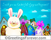 Easter ecard with rabbit