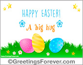 Ecard with Easter colorful Eggs
