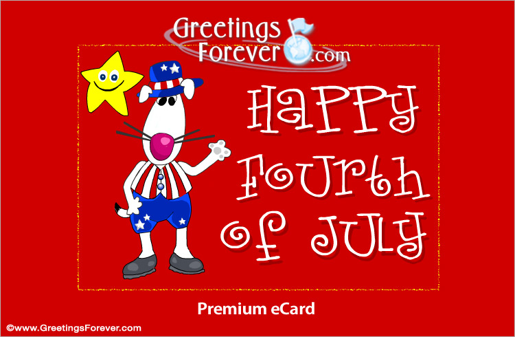 Ecard - Happy fourth of july