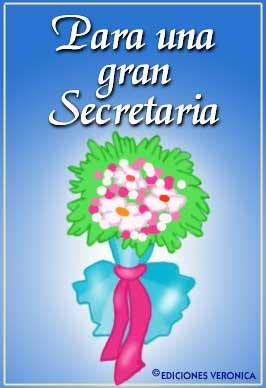 Tarjeta - Para una gran secretaria.