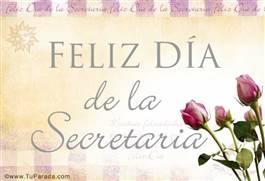 Tarjeta Día de la secretaria