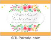 Tarjeta de Día de la Secretaria