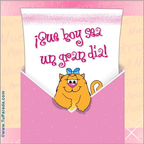 Tarjeta - Nuestra amistad con sobre rosa...