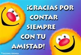 Gracias por tu amistad con sonrisas