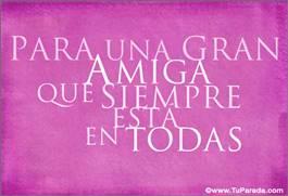 Para una gran amiga en rosa