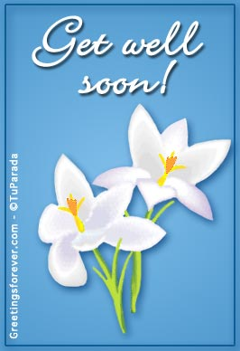 Ecard - Get well soon with flowers