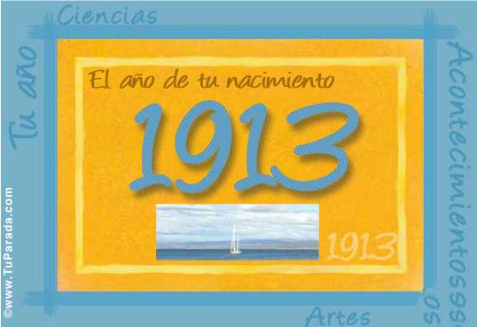 Tarjeta de 1913