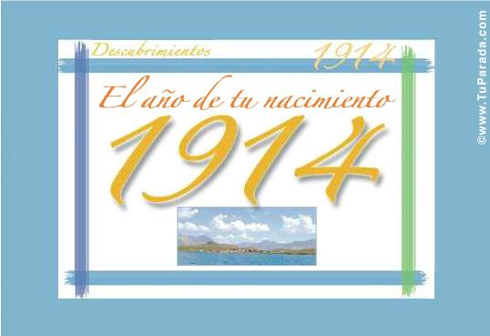 Tarjeta de 1914