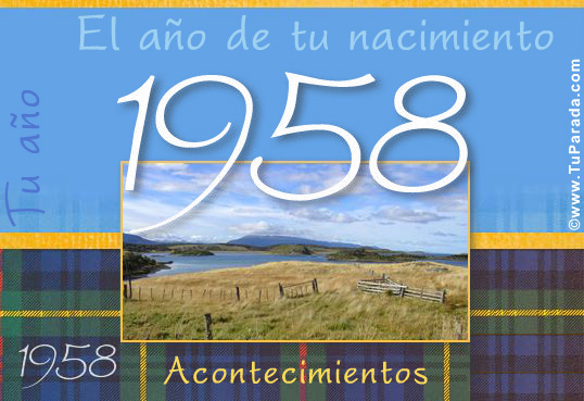 Tarjeta - Tarjeta de 1958