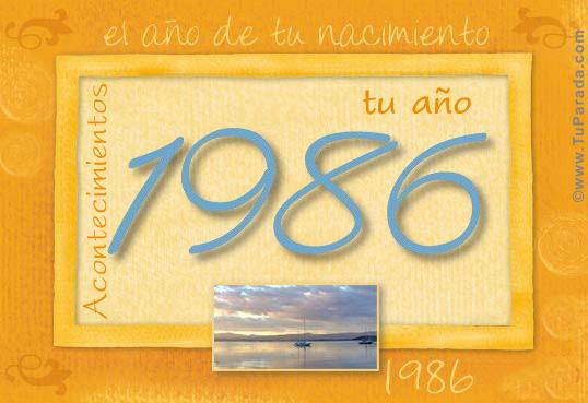 Tarjeta de 1986