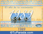 Tarjeta de 1989