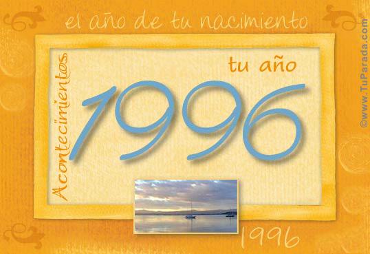 Tarjeta de 1996
