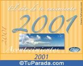 Tarjeta de 2001