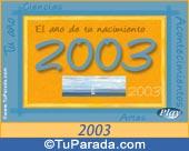Tarjeta de 2003