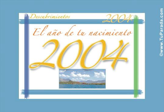 Tarjeta de 2004