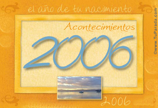 Tarjeta de 2006
