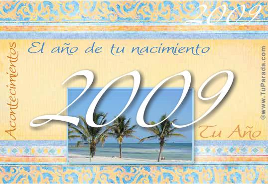 Tarjeta de 2009