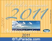 Tarjeta de El año de tu nacimiento