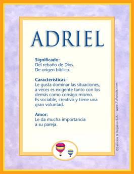 Nombre Adriel