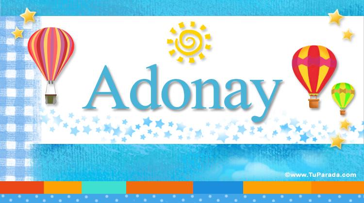Adonay, imagen de Adonay